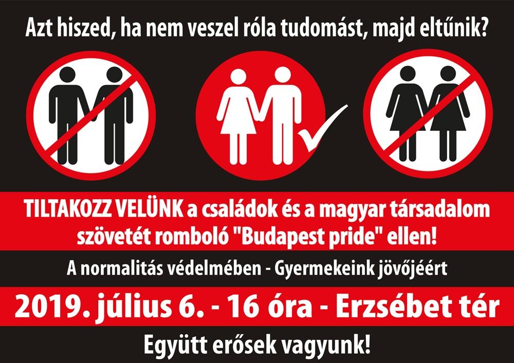 Pride ellentüntetés plakát