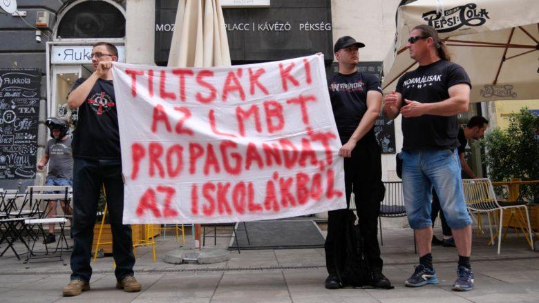 LMBT oktatás elleni tiltakozás